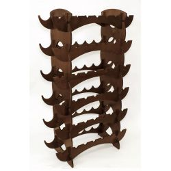 Onda - wooden wine rack for 42 bottles